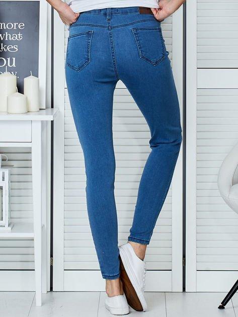 Niebieskie spodnie jeansowe skinny high waist                                  zdj.                                  2