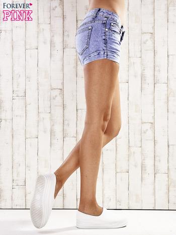 Niebieskie szorty jeansowe marble denim                                  zdj.                                  5