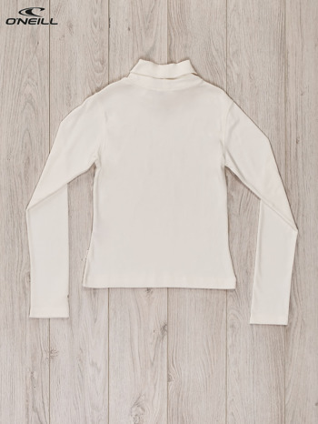 O'NEILL Ecru bluzka dla dziewczynki z golfem i dżetami