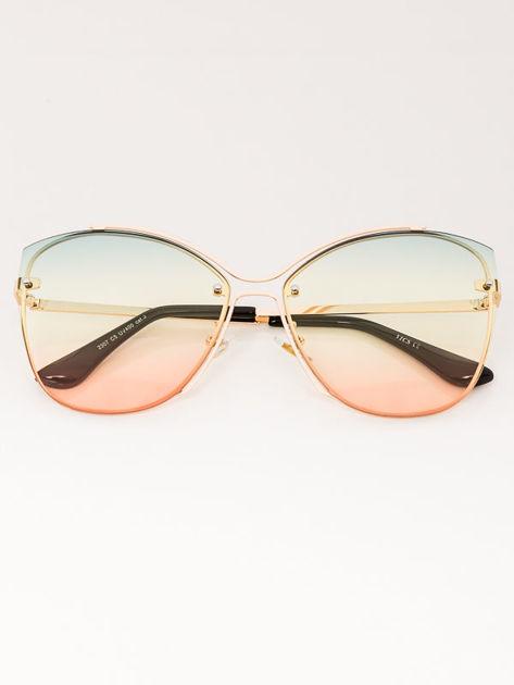 VICS Okulary przeciwsłoneczne damskie złote szkło multicolor                              zdj.                              1