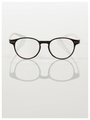 Okulary korekcyjne  +2.5 D dwukolorowe ,do czytania, stylizowane na RAY BAN +GRATIS PLASTIKOWE ETUI I ŚCIERECZKA Z MIKROFIBRY                                  zdj.                                  3