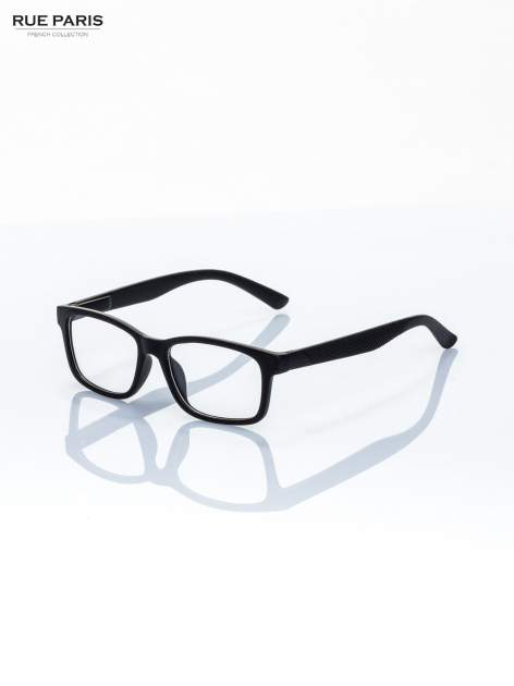 Okulary zerówki kujonki typu WAYFARER NERDY matowe