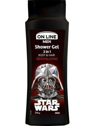 On Line Men Żel pod prysznic 2w1 Star Wars Revitalizing  400 ml