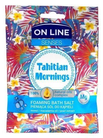 On Line Senses Pieniąca Sól do kąpieli Tahitian Mornings  80 g