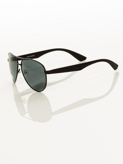 POLARYZACJA Czarne okulary pilotki                                   zdj.                                  3