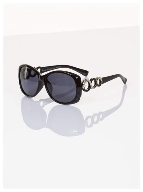 POLARYZACJA Piękne o unikatowym kształcie okulary ze zdobieniami z dodatkową powłoką polaryzacyjną +GRATISY                                  zdj.                                  2
