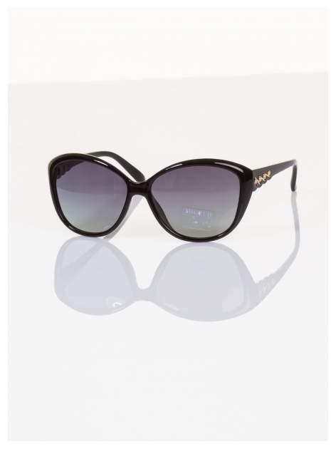 POLARYZACJA Przepiękne włoskie okulary KOCIE OKO z drobnymi złotymi zdobieniami +GRATISY                                  zdj.                                  2