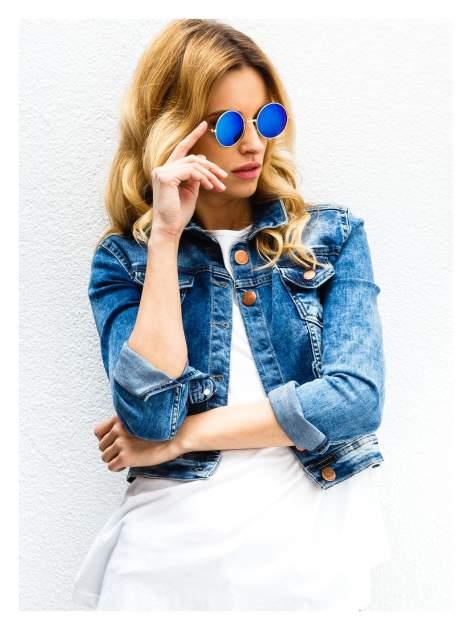 PONADCZASOWE okulary przeciwsłoneczne zielono-niebieskie lustrzanki LENONKI                                  zdj.                                  1