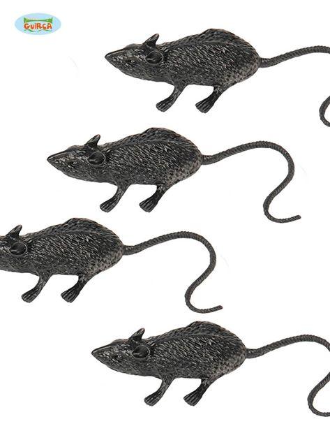 Paczka czarnych myszy na imprezy 4 sztuki                              zdj.                              1