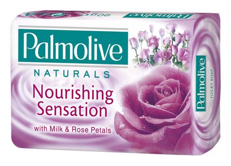 Palmolive Naturals Mydło w kostce Nourishing Sensation Mleko i Róża 90 g