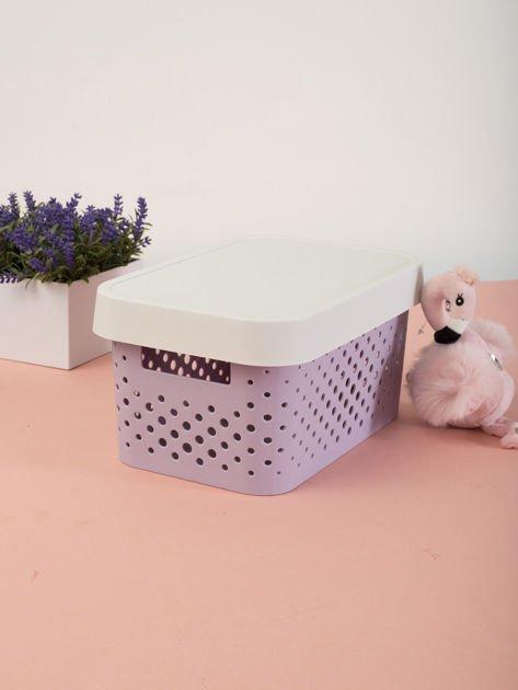 Pastelowe lawendowe pudełko do przechowywania z pokrywką