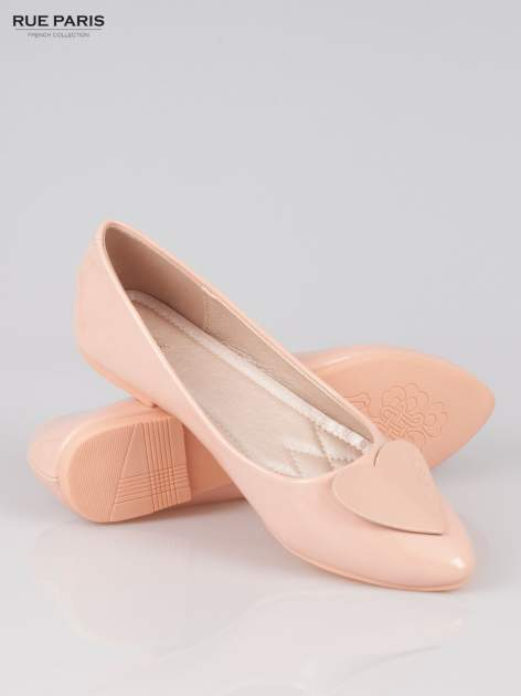 Pasteloworóżowe baleriny Dazzle Love z sercem                                  zdj.                                  4