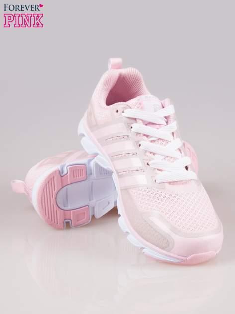 Pasteloworóżowe buty sportowe textile Lovegame z elastyczną podeszwą                                  zdj.                                  4