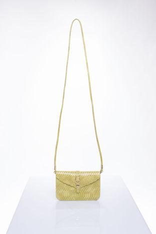Pastelowozielona kopertówka z motywem skóry krokodyla                                  zdj.                                  4