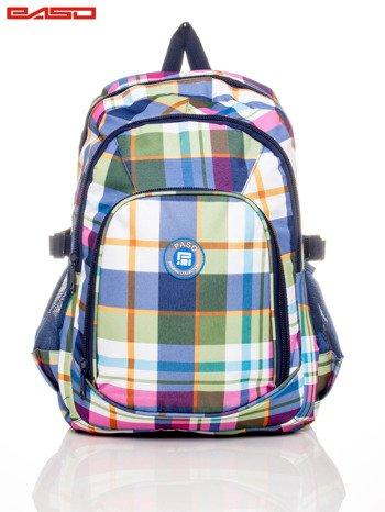 Plecak szkolny w kratę