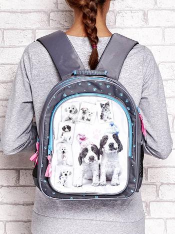 Plecak szkolny z nadrukiem szczeniaczków