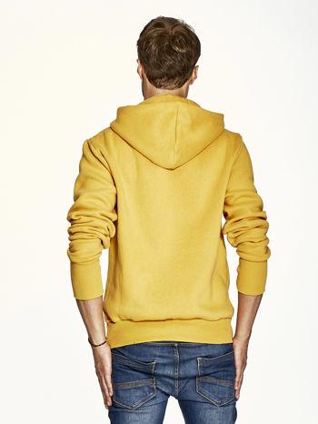 Pomarańczowa bluza męska z kapturem z nadrukiem reggae                                  zdj.                                  2