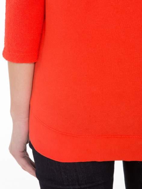 Pomarańczowa bluza oversize z łączonych materiałów                                  zdj.                                  8