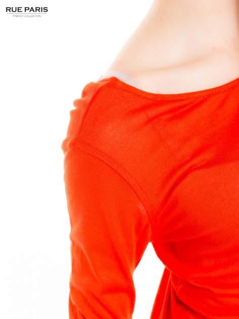 Pomarańczowa bluzka z dekoltem na plecach                                  zdj.                                  7