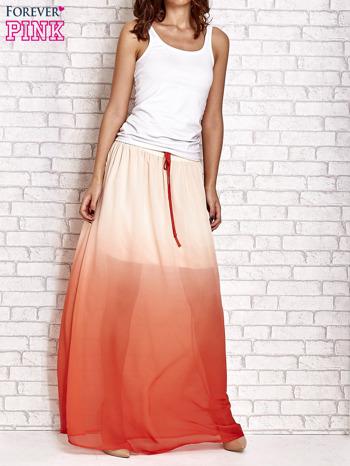 Pomarańczowa długa spódnica maxi z efektem ombre                                  zdj.                                  6
