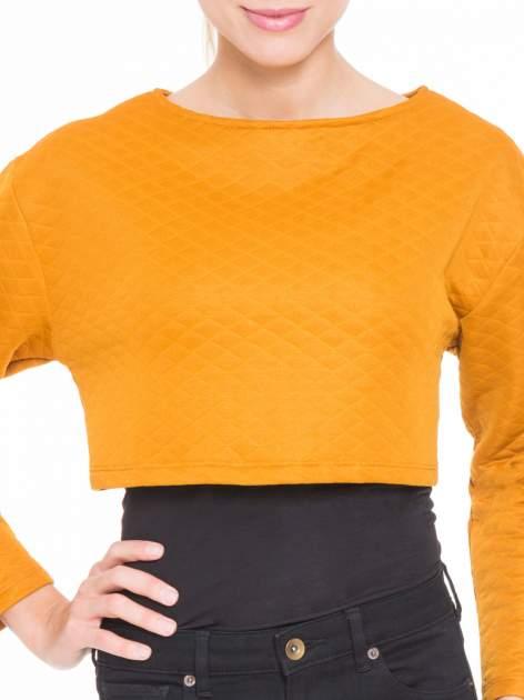 Pomarańczowa pikowana bluzka cropped                                  zdj.                                  5