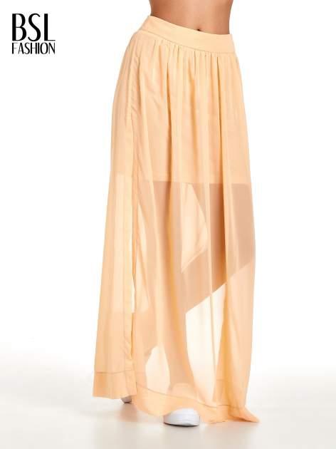 Pomarańczowa spódnica maxi transparentna                                  zdj.                                  1