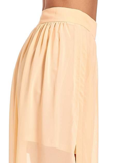 Pomarańczowa spódnica maxi transparentna                                  zdj.                                  6