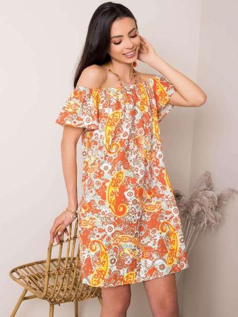Pomarańczowa sukienka Darling