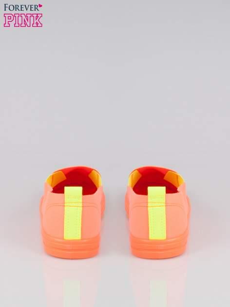Pomarańczowe buty slip on                                  zdj.                                  3