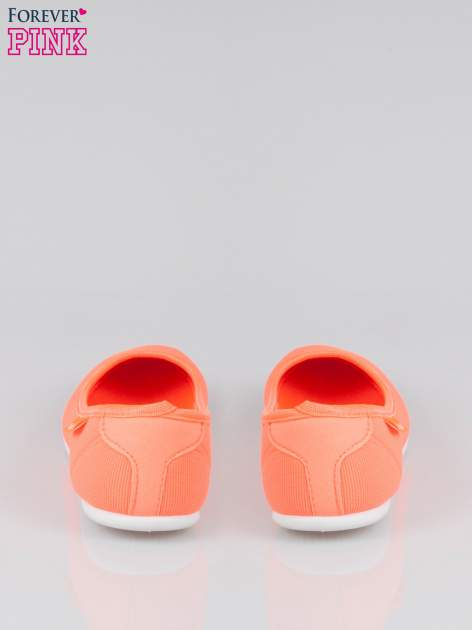 Pomarańczowe lekkie balerinki Cute Blush slip on                                  zdj.                                  3