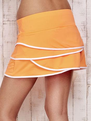Pomarańczowe spodenki spódniczka tenisowa z falbankami                                  zdj.                                  6