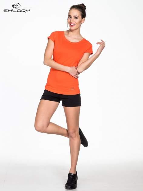Pomarańczowy damski t-shirt sportowy basic PLUS SIZE                                  zdj.                                  3