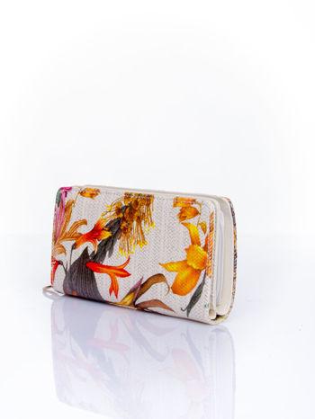 Pomarańczowy portfel z egzotycznym nadrukiem                                  zdj.                                  3