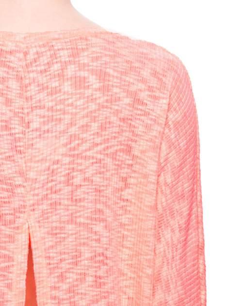 Pomarańczowy sweter z rozcięciem na plecach                                  zdj.                                  6