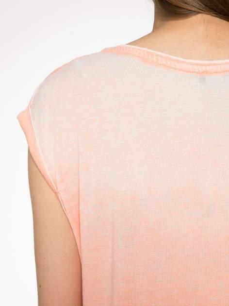 Pomarańczowy t-shirt LOVE ROCKS                                  zdj.                                  9