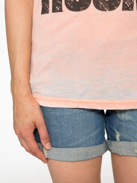Pomarańczowy t-shirt LOVE ROCKS                                  zdj.                                  6