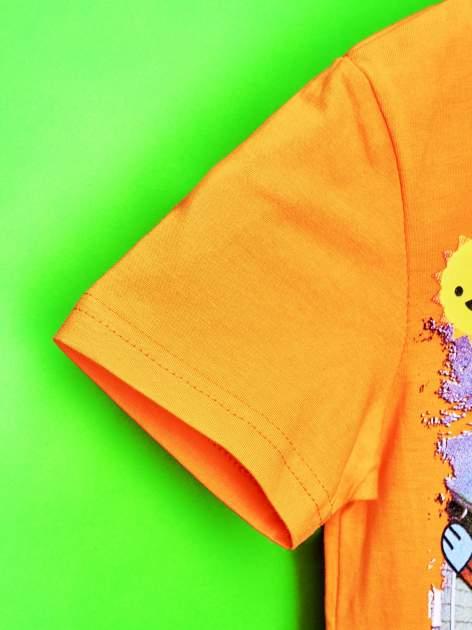 Pomarańczowy t-shirt chłopięcy GUMBALL                                  zdj.                                  6