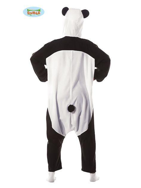 Przebranie karnawałowe Panda dla dorosłych z kapturem                              zdj.                              2