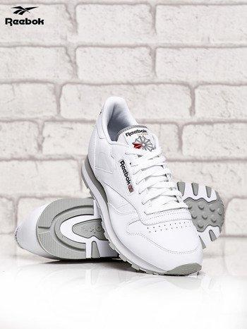 REEBOK Białe buty męskie sportowe Classic Leather z przeszyciami                              zdj.                              3