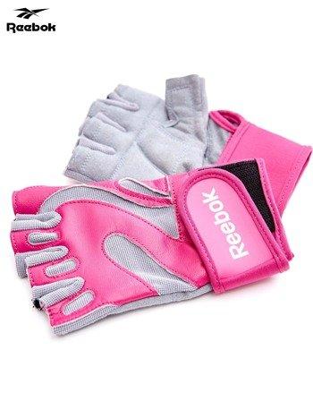 REEBOK Różowe rękawiczki treningowe                               zdj.                              2