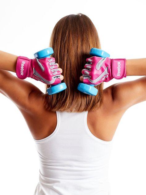 REEBOK Różowe rękawiczki treningowe                               zdj.                              5