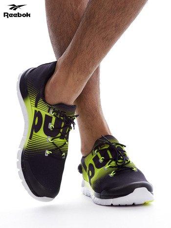 REEBOK ZPUMP FUSION Czarno-żółte buty męskie sportowe z nadrukiem                              zdj.                              4