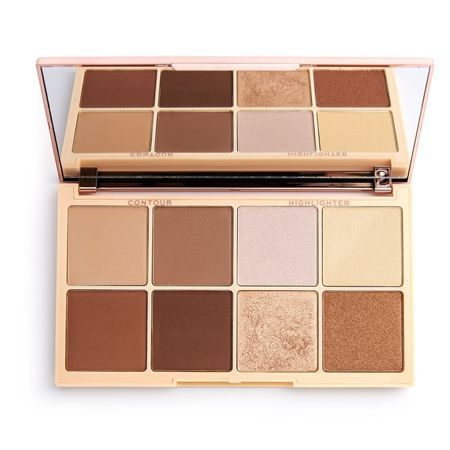 REVOLUTION Paleta do konturowania Roxxsaurus Highlight & Contour 8 x 2,5 g