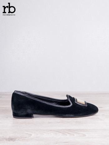 ROCCOBAROCCO czarne baleriny shammy-leather z weluru                                  zdj.                                  1