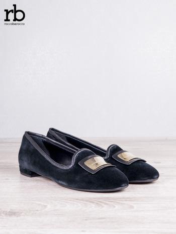 ROCCOBAROCCO czarne baleriny shammy-leather z weluru                                  zdj.                                  3