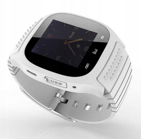 RONEBERG Smartwatch RM26 Współpracuje z Android oraz iOS Powiadomienia Połączenia Krokomierz Monitor snu Biały                              zdj.                              2
