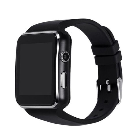 RONEBERG Smartwatch RX6 Współpracuje z Android oraz iOS Powiadomienia Połączenia Krokomierz Monitor snu Czarny                              zdj.                              2