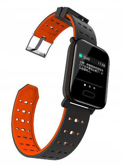 RONEBERG Smartwatch Smartband RA6 Pulsometr Ciśnieniomierz Oksymetr Powiadomienia Długi czas działania niebiesko-czarny                              zdj.                              8