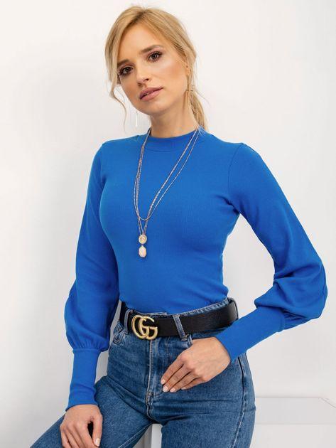 RUE PARIS Ciemnoniebieska bluzka Lauren