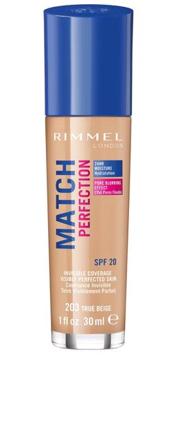 """Rimmel Podkład Match Perfection nr 203 true beige   30ml"""""""